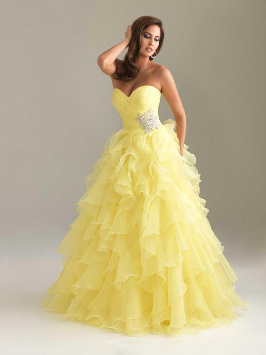 91c33324fb64 Abito da sposa bianco e giallo – Abiti alla moda