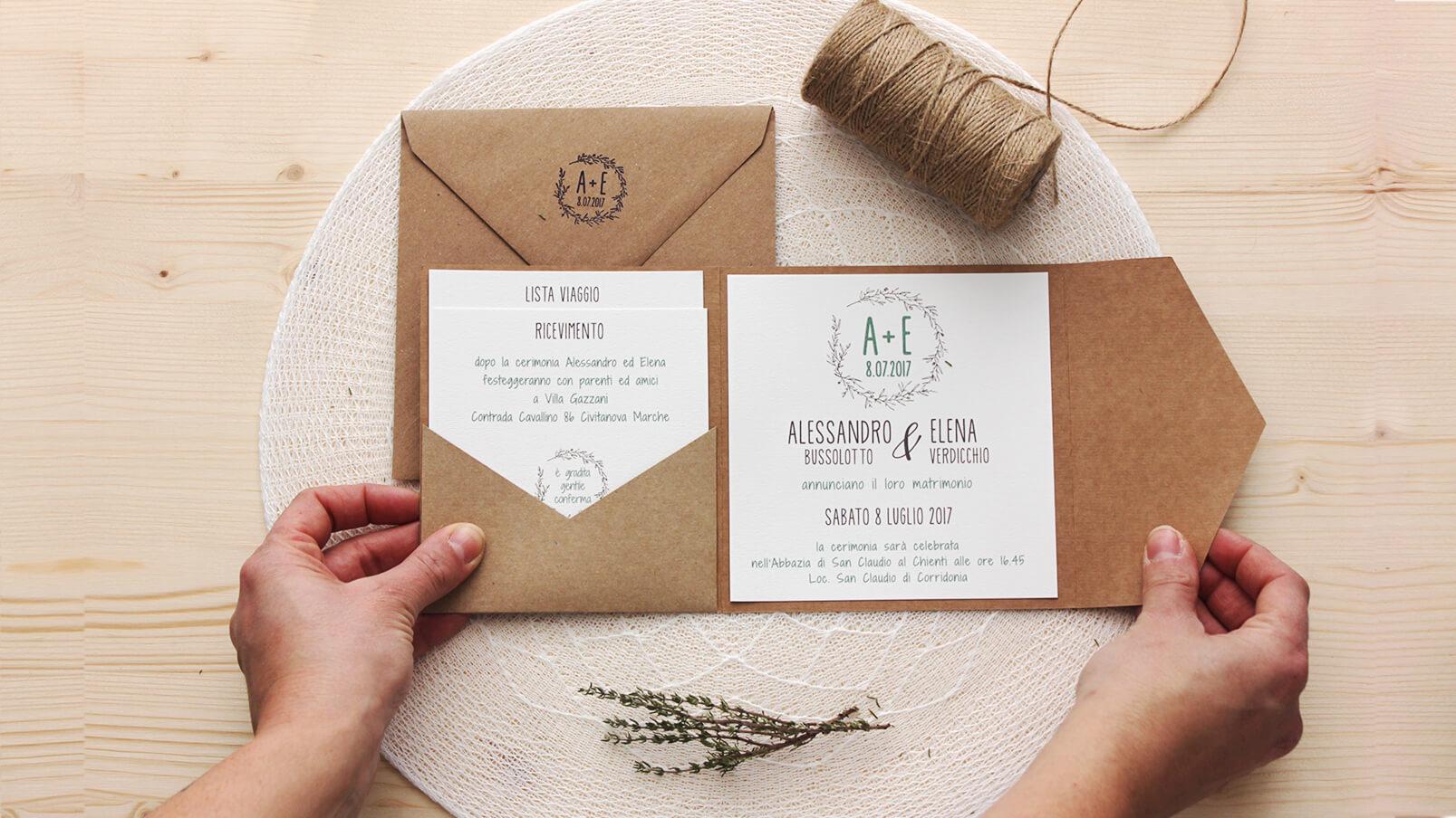 Partecipazioni Matrimonio Natalizio : Cartacrespa partecipazioni matrimonio nelle marche